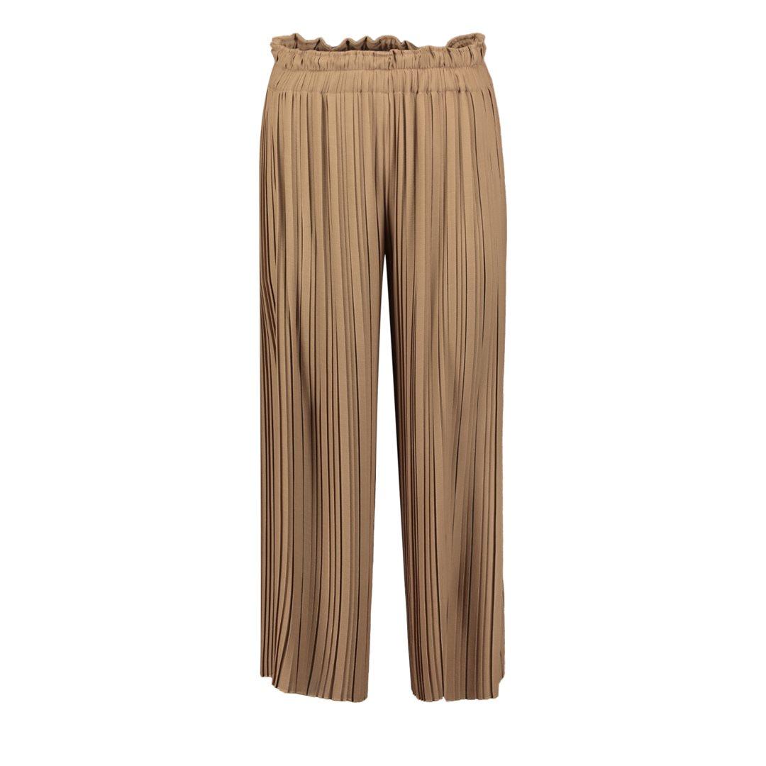 Solid plissee pants